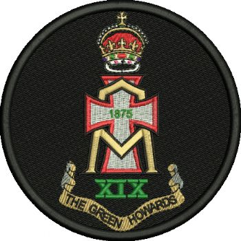 Green Howards Embroidered Badge
